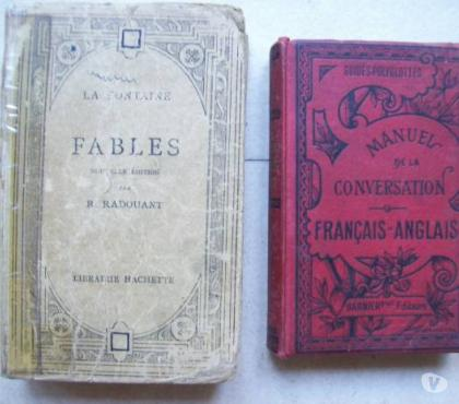 Photos Vivastreet anciens Manuel français-anglais + Fables La Fontaine - zoe