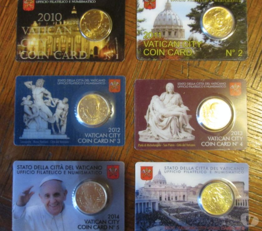 Photos Vivastreet Collection 50 cts Vatican coincards