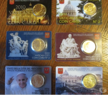 Photos Vivastreet Collection 50 cts Vatican coincards