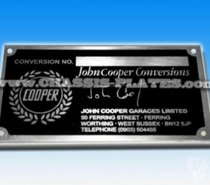 Photos for JOHN COOPER MINI / METRO / MG CONVERSION CHASSIS PLATE