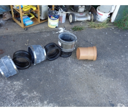 Photos for FLEXI RUBBER DRAINAGE REDUCER PIPES ALSO PLASTIC BENDS ETC