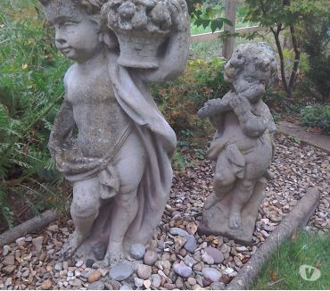 Photos for Aged Weathered Stone Classical Figure Garden Statue x 2