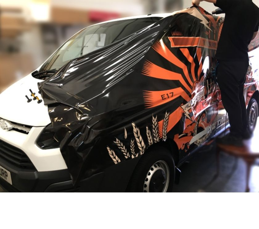 courier services Central London Goswell Road - EC1 - Photos for Van Wrapping Van Graphics Wraps Vans Branding Fleets