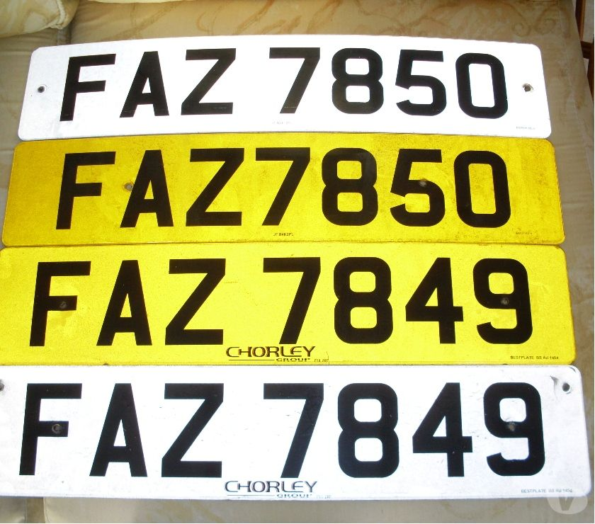 car spares Lancashire Blackpool - Photos for Consecutive Cherished Number Plates