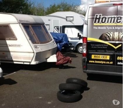 Photos for Swift caravan tyres fitted at your home or storage site