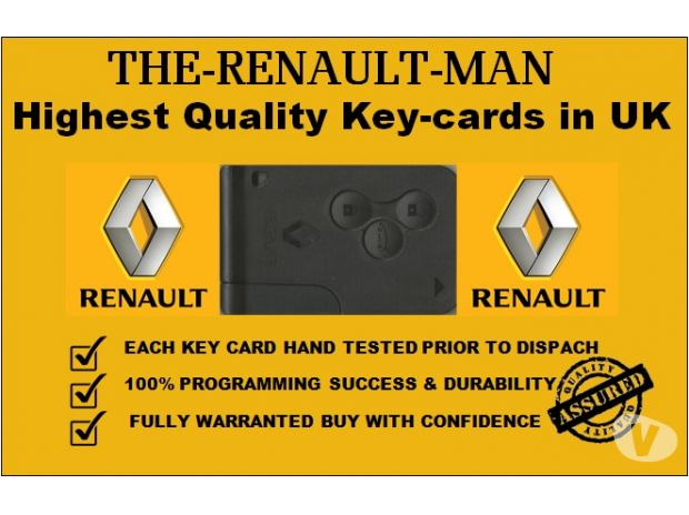 Photos for Renault key cards supplied and programmed from 2002-2015.