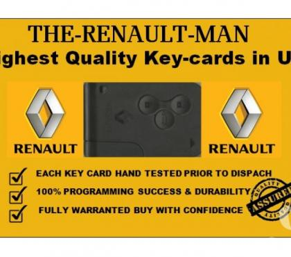 Photos for Renault key cards supplied and programmed from 2002-2019.