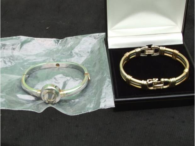 Photos for GOLD BRACELET and the 'LALIQUE MASCOT' watch both items box