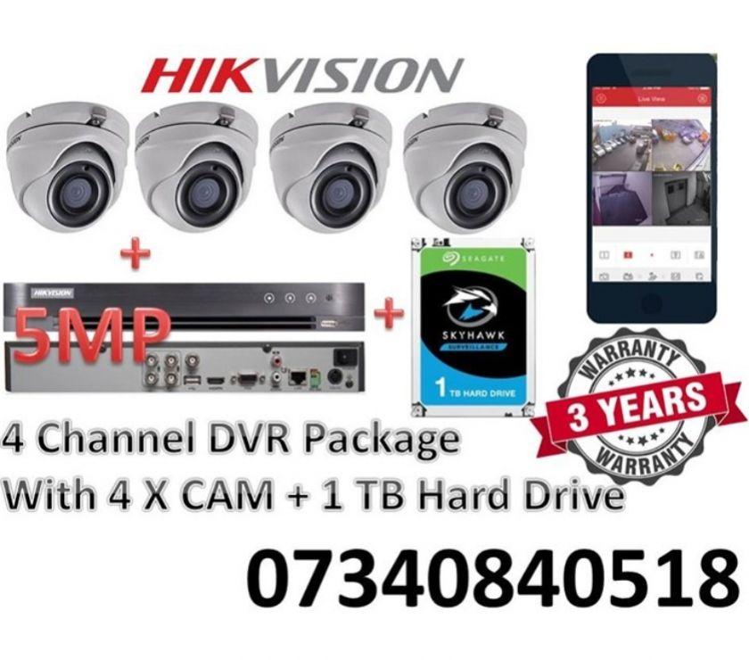Camera, Audio & Video West Midlands Birmingham - Photos for HIKVISION 3MP 5MP 8MP 4 CHANNEL CCTV DVR SYSTEM