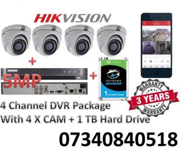 Photos for HIKVISION 3MP 5MP 8MP 4 CHANNEL CCTV DVR SYSTEM