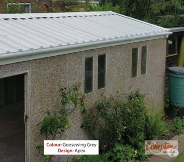 Photos for Replacement Garage Roof Kit for Compton Apex sized 9ft0inW