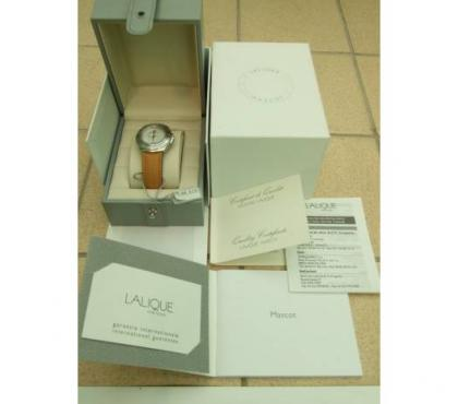 Photos for LALIQUE 'Unique Lalique' wristwatch for sale in box with all