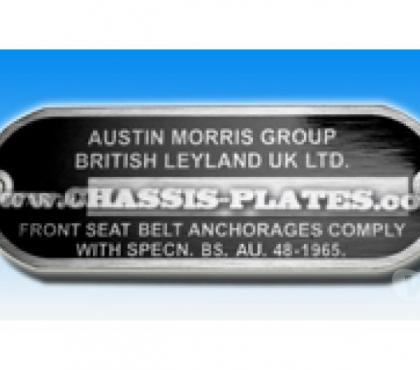Photos for Austin or Morris or Rover MINI Chassis / VIN Plate