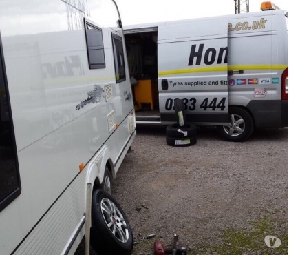 Photos for Swift Caravan tyres, mobile tyre fitting