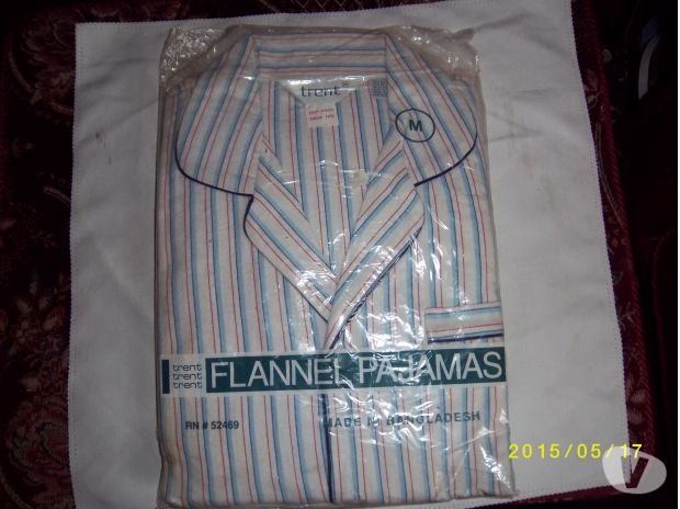 hand made dresses West Midlands Stourbridge - Photos for Mans Striped Flannel Pajamas