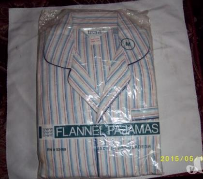 Photos for Mans Striped Flannel Pajamas