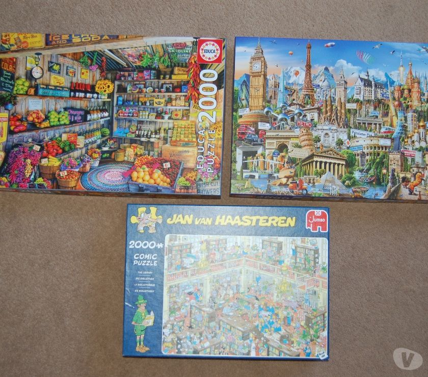 Used baby clothes Derbyshire Derby - Photos for Three 2000 piece jigsaw puzzles for sale.