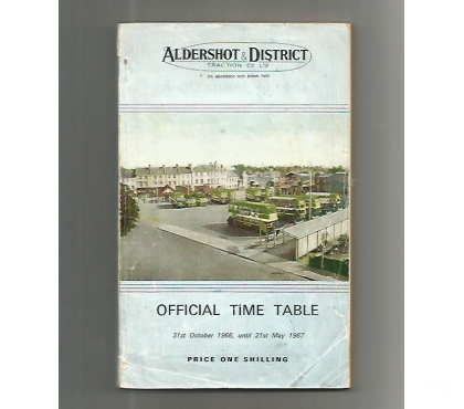 Photos for ALDERSHOT AND DISTRICT TRACTION CO LTD TIMETAb LE FROM 1966