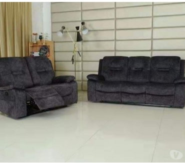 Photos for Recliner Sofa 3seater + 2 seater in fabric dark grey