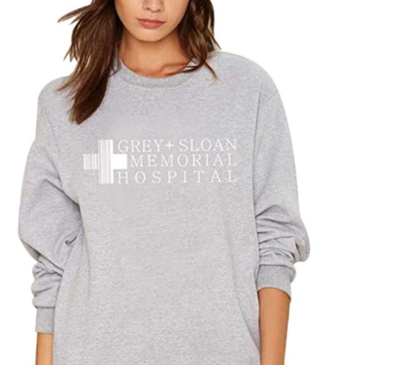 hand made dresses Manchester County Manchester - Photos for Women's Crew Neck Pullover Sweatshirt Letter Logo Printed So