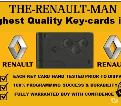 Photos for Renault Key Card Replacement all models 2001-2019