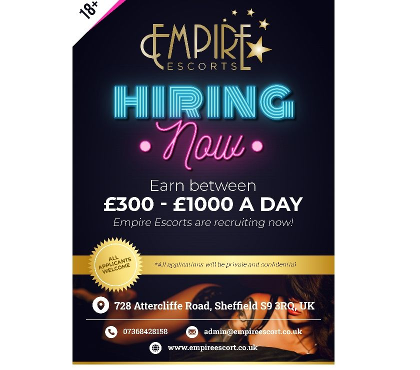 Adult Jobs South Yorkshire Sheffield - Photos for EMPIRE ESCORTS 07368428158 IMMEDIATE STARTS