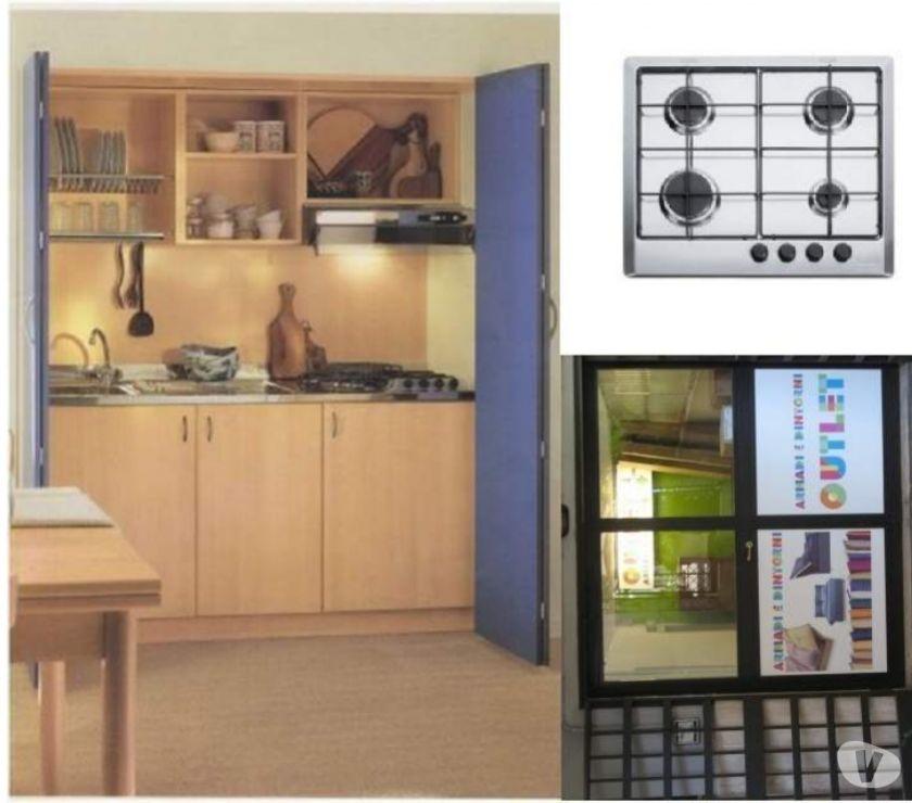 Cucina monoblocco a scomparsa l=164 bluette+P.C. A GAS in vendita ...