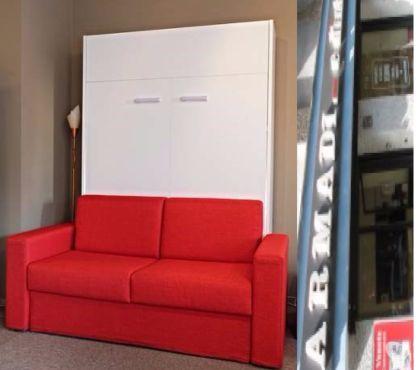 Foto di Vivastreet.it Letto a scomparsa 160 cm BIANCO con divano