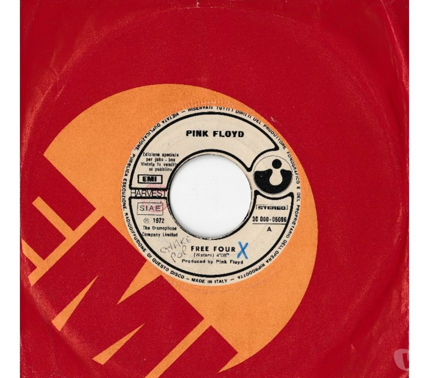 compact disc dvd e videogames Palermo e provincia Palermo - Foto di Vivastreet.it PINK FLOYD - Free Four - 7' 45 giri 1972 EMI Italy