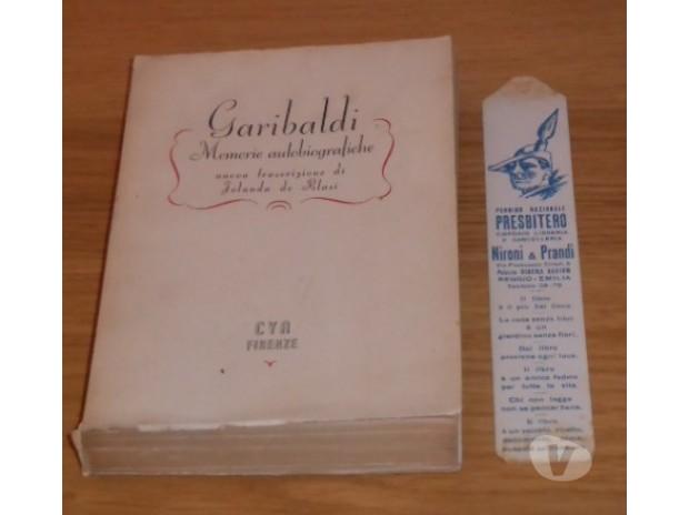 Collezionismo - Libri Palermo e provincia Palermo - Foto di Vivastreet.it Garibaldi, Memorie autobiografiche, Iolanda de Blasi, 1944.