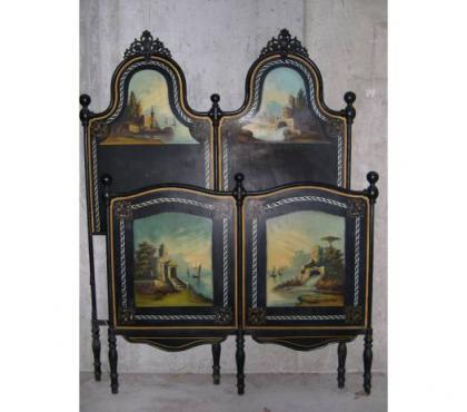 Foto di Vivastreet.it letto antico in ferro con madreperla e dipinti Liberty