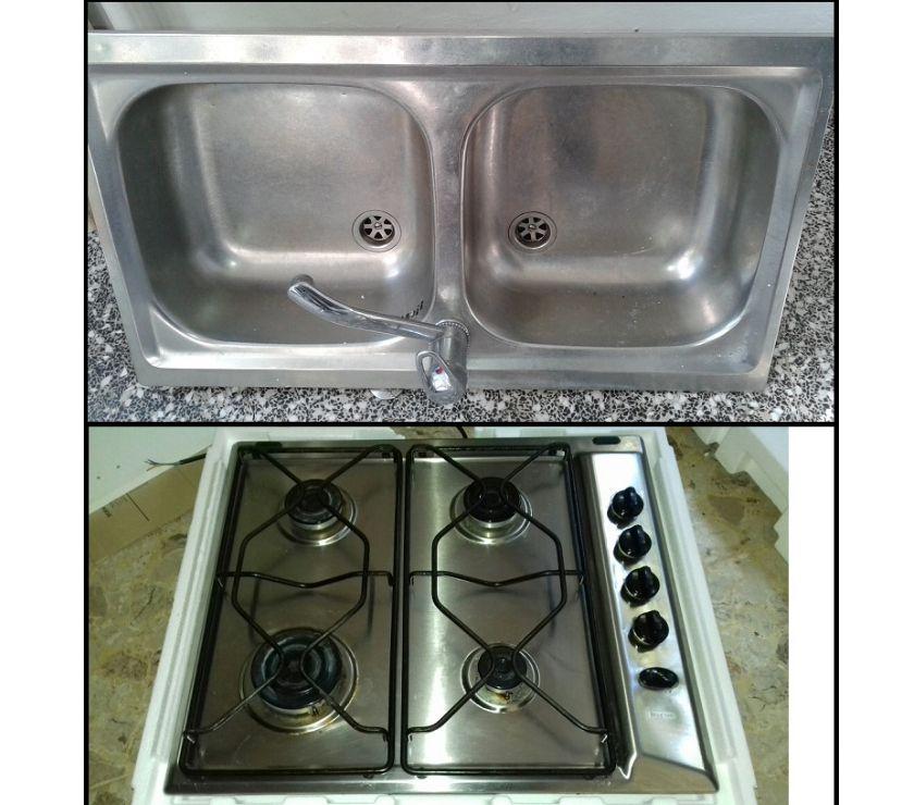 Lavandino Acciaio Inox Usato.Piano Cottura Ignis Lavello 2 Vasche Acciaio Inox In Vendita