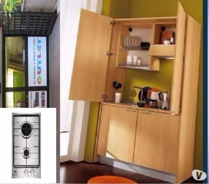 Cucina Monoblocco a Scomparsa SKY125 cm+ P.C. A GAS-CUCINE in ...