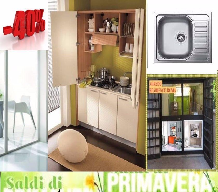 Cucina monoblocco scomparsa sky p l=155cm+ lavello-40% in vendita ...