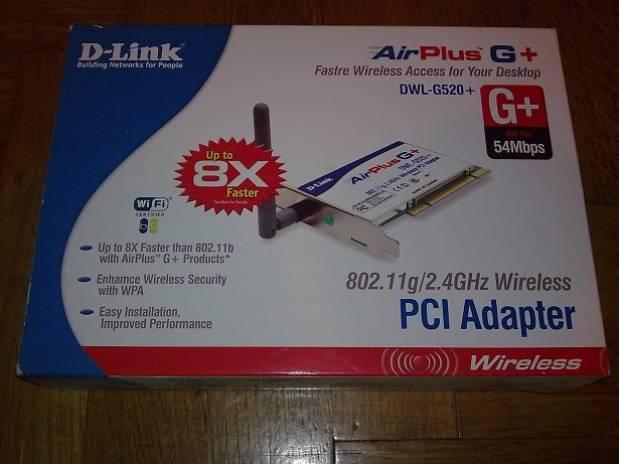Foto di Vivastreet.it scheda di rete D-Link DWL-G520+ Wireless PCI Adapter