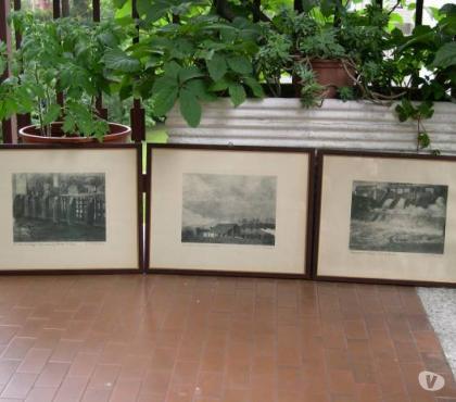 Foto di Vivastreet.it 4 Quadri con stampe antiche, stampe antiche cornice noce
