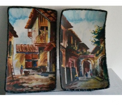 Foto di Vivastreet.it Piatti ornamentali ceramica dipinti fabbricati in Italia