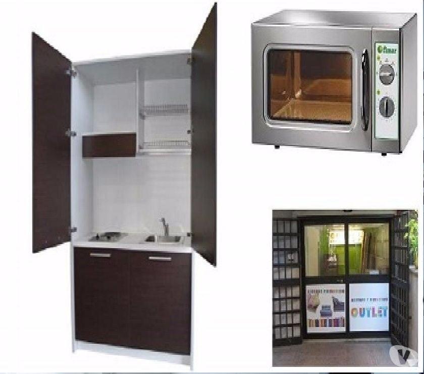 Cucina monoblocco a scomparsa aden l.125+forno microonde in vendita ...