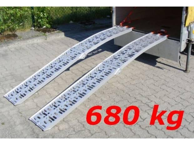 Kit 2 rampe in alluminio pieghevoli portata 680kg atessa for Rampe pieghevoli alluminio