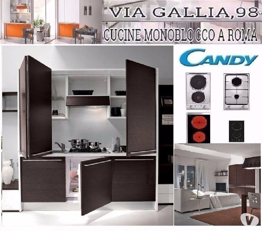 ARREDO RESIDENCE A ROMA-CUCINA MONOBLOCCO OFFICE- L. 185CM in ...