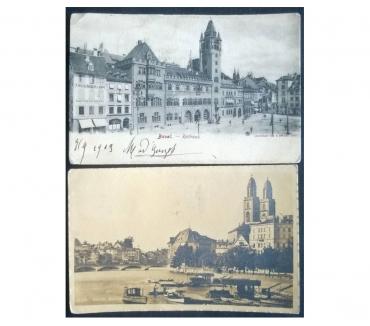 Foto di Vivastreet.it Switzerland Svizzera 2 cartoline bn FP VG SV#01