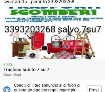 Foto di Vivastreet.it Piccoli medi traslochi sempre disponibile 7 ggsu 7 e svuota
