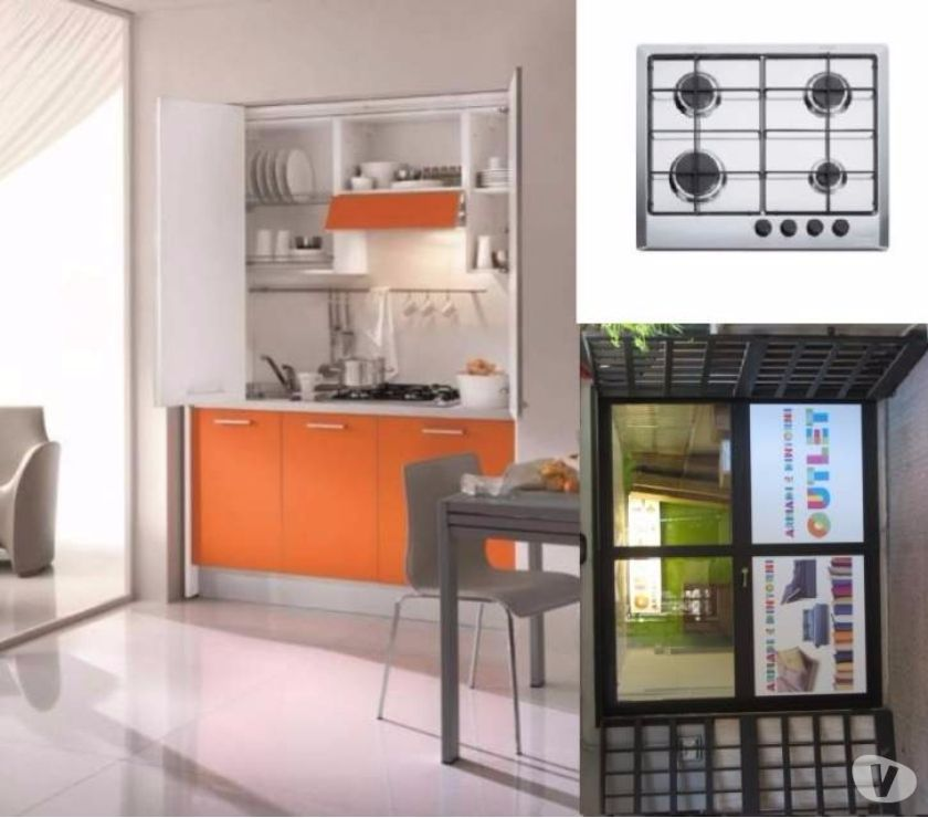 Cucina Monoblocco a Scomparsa ARANCIO155 cm+ P.C. A GAS-CUCI in ...