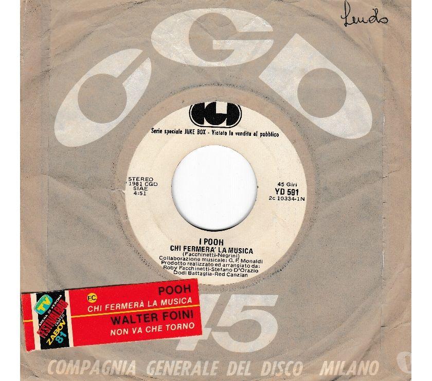 compact disc dvd e videogames Palermo e provincia Palermo - Foto di Vivastreet.it POOH - Chi Fermera La Musica - '7 45 giri Promo Jukebox