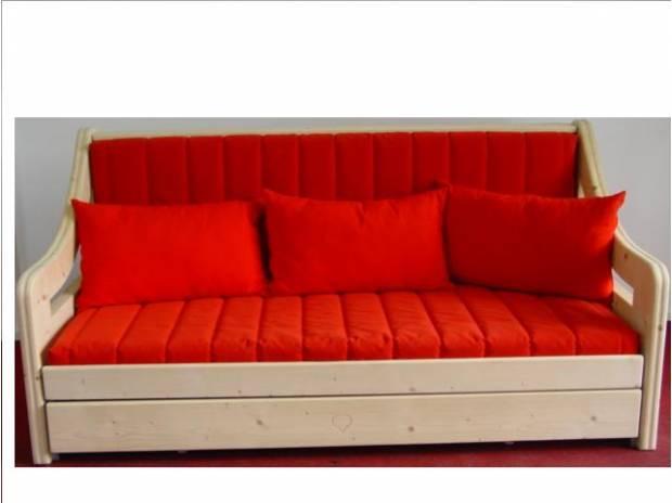 Divano letto in legno pregiato in vendita campodarsego for Divano letto usato
