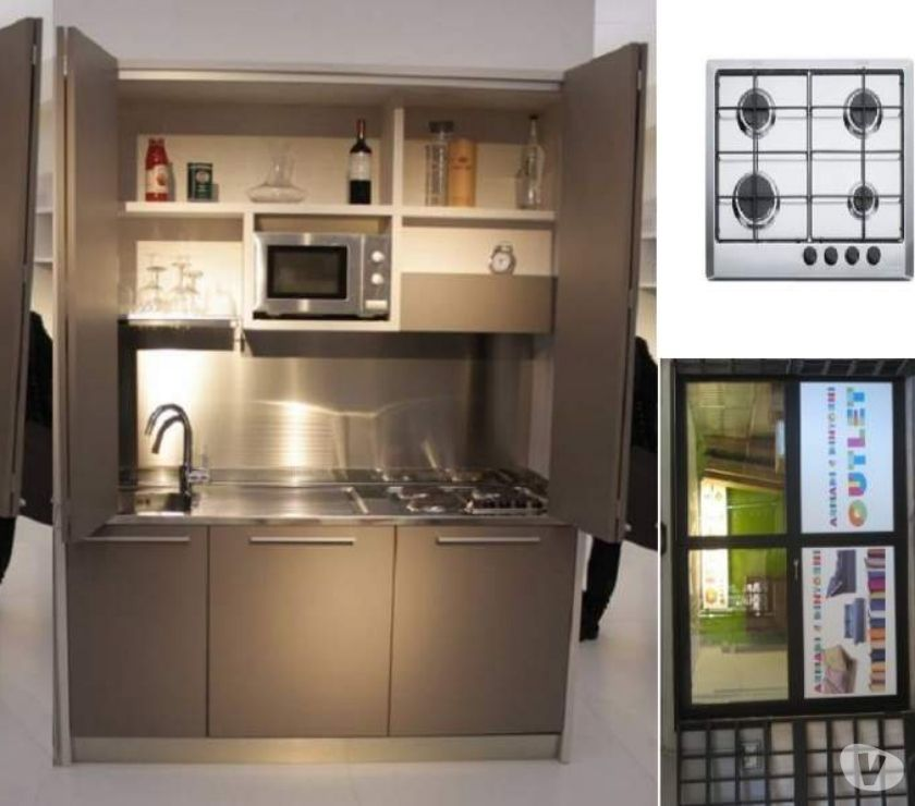 Cucina monoblocco a scomparsa l. 165 lac P.C.GAS-RESIDence in ...