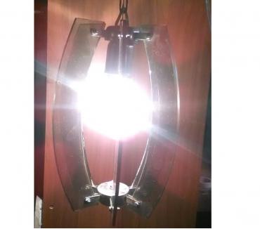 Foto di Vivastreet.it Lampadario lampada luce faro antico vintage vetro fumè e27