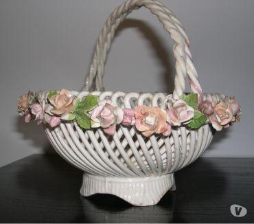 Foto di Vivastreet.it Antico cestino in ceramica porcellana, crespina antica