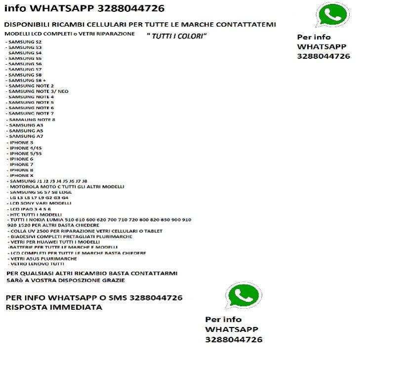 Foto di Vivastreet.it vetro samsung S3 S4 S5 S6 J3 A1A3 note 2 3neo 4 5 iphone 4