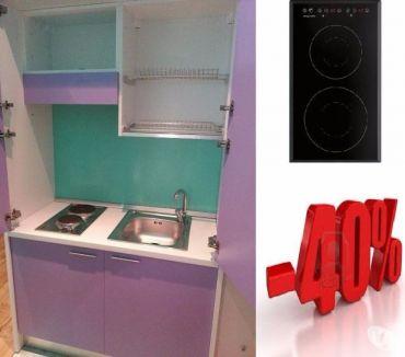 Foto di Vivastreet.it ARREDO RESIDENCE A ROMA-CUCINA MONOBLOCCO lilla 125cm+P.C IN